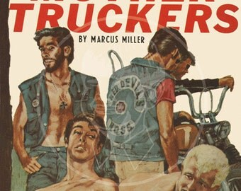 The Mother Truckers - 10 x 16 Giclée Canvas Print of a Vintage Gay Pulp Paperback Cover