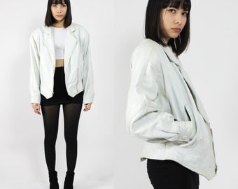 White Leather Motorcycle Jacket
