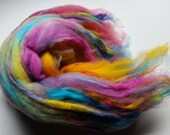 Color my world:  Textured Spinning or Felting batt  70 g / 2.4 oz by Star Fiber Studio