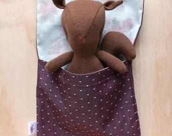 polka dot doll sleeping bag
