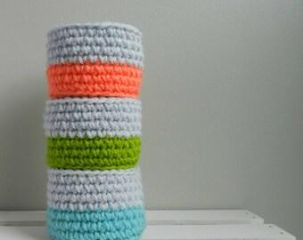 Color Block Mini Bowls / Set of 3 /
