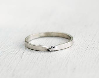Size 7 - Thin Sterling Silver Mobius Ring - Eternity Band - Promise Ring - Twist Ring - Stacking Ring - Gift For Her