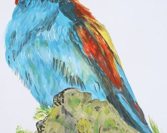 Acrylic painting of a Bee-eater
