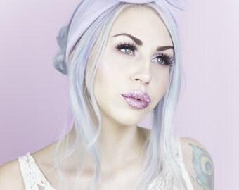 Lilac Moleskin Soft Feel Wire Headband - Cosy - Winter