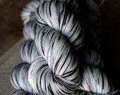 "Sock Yarn - 80/10/10 SW Merino/Cashmere/Nylon - Christmas - ""Snow and Coal"""