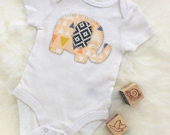 Baby elephant onesie/bodysuit, cute elephant outfit, personlaize with your baby's name!