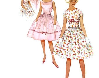 1950s SIMPLICITY 3298 Sub-teen dress and jacket Vintage Paper Pattern 1950s Size 14 BUST 28 rockabilly dance