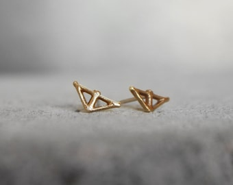 TAIKA Small Earrings, bronze or sterling silver, made with recycled silver