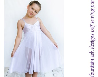 Felicity ballet leotard pattern dance costume pdf sewing pattern