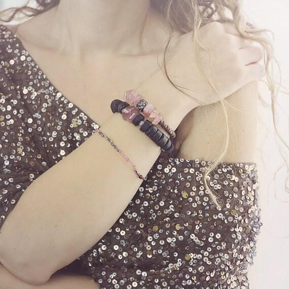Smoky Quartz Bracelet - Chunky Statement Bracelet