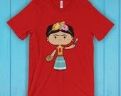 Frida Kahlo T-Shirt, Unisex Graphic T Shirt, Women's T Shirt, Men's T Shirt, available in 20 colors - Artist T-shirt, Feminist T-shirt