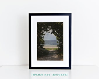 Path to Paradise Photo, Blue Ocean Beach Photography, Florida Travel Art, Tropical Coastal House Decor, Nautical Vertical Wall Art Print