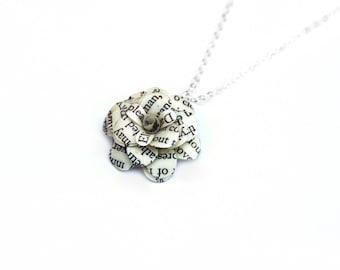 Book Necklace - Classic Literature Flowers - Pride & Prejudice, Jane Eyre, etc - graduation gift, bridesmaid gift, book wedding, book lover