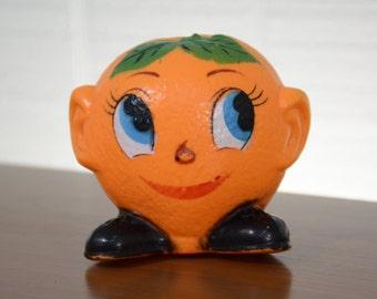Plastic Squeaky Squeak Orange Citrus Fruit Baby Dog Toy