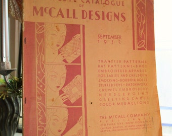 McCall Designs Complete Catalogue September 1932 Vintage Clothes Quilts and More