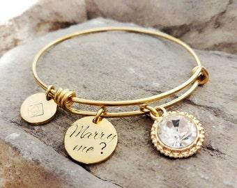 Proposal Bracelet - Marry Me Bracelet - Engagement Bracelet - Unique Proposal Idea - Valentine Bracelet - Valentine's Gift - Engagement Gift