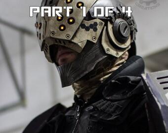 PAYMENT PLAN part 1 OF 4 The Enforcer - Scifi unique one of a kind light up hero/villain helmet