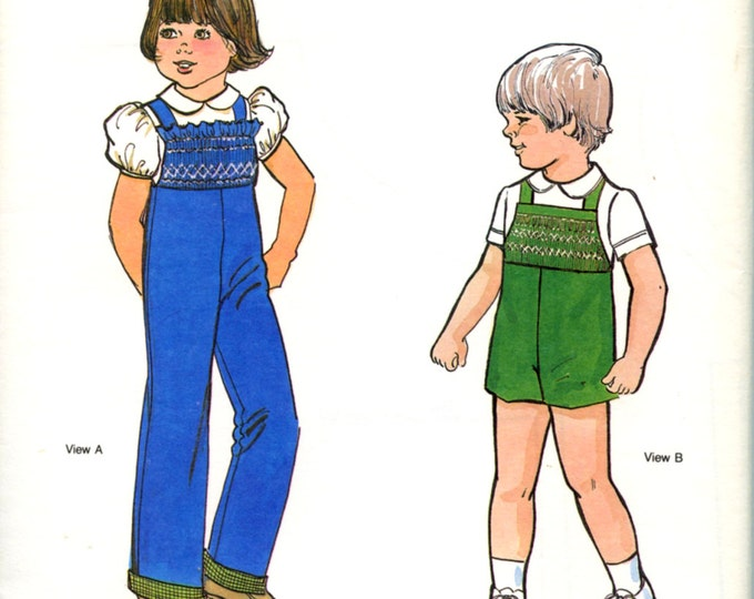 Childrens Corner Pattern / Jack and Jill Pattern / Overall Pattern / Girls & Boys Pattern / Smocked Pattern / Smocked Inset /  44