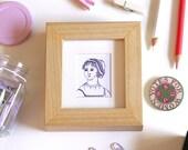 Jane Austen Print Pride and Prejudice Print Book Worm Print Framed Print Book Lover