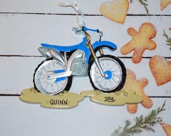 Personalized Dirt Bike Motorcross Christmas Ornament