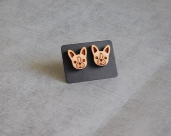 French Terrier Stud Earrings : Cute Dog Posts