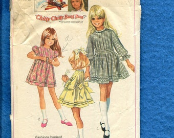 1960's Simplicity 8111 Sweet Dress Inspired by Jemima from Chitty Chitty Bang Bang Size 8