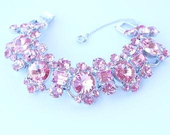 Juliana D&E Pink Rivoli Rhinestone Bracelet