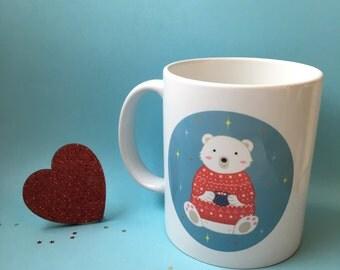 Winter Polar Bear mug