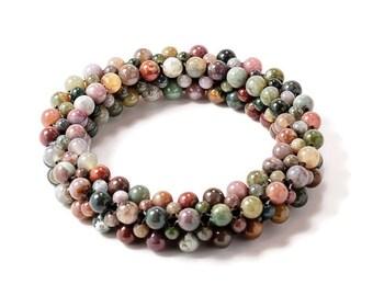 Gemstone Bracelets, Womens Bead Bracelets, Fashion Bracelets, Jasper Bracelet, Protection, Healing, Gift for Her, Colorful Bracelet