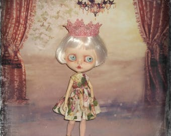 Blythe ~  Retro  Inspired Sundress Includes Crown   ~   by KarynRuby