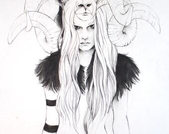 Witch (Black Phillip) Fine Art Print