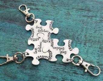 Best Bitches Puzzle Keychains, Best Friend Keychains, Anniversary Gift, Best Friends, Girlfriends Keychains, Birthday Gift for Friend