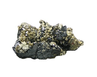 Sphalerite Pyrite Metallic Ore Mineral Crystal Cluster Geo Specimen mined in Mexico in the 1980's