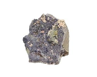 Bastnasite Bastnaesite Yellow Rare Earth Metal Mineral in Purple Fluorite Rock Matrix Specimen Earth Nugget mined in New Mexico