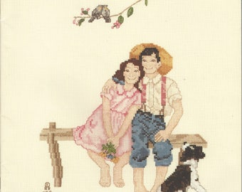 "Clearance- ""Norman Rockwell Childhood Memories"" Counted Cross Stitch by Country Cross-Stitch"