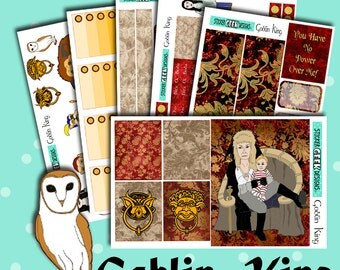 Planner Stickers | Labyrinth Stickers | Goblin King Kit | Weekly Planner Sticker Kit