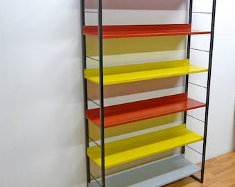 Free Standing industrial Tomado Book Shelf Unit. 1950s