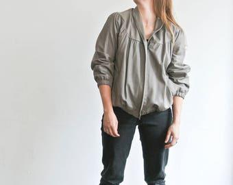 Leather jacket grey