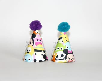 Tsum Tsum Party Hat // Mini Party Hat // Ready to Ship // by Born TuTu Rock