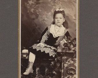 CDV of a Beautifully Dressed Little Girl