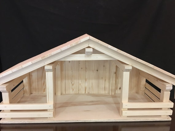 Wood Stable Creche Manger Barnholiday Decor Home By Djantle