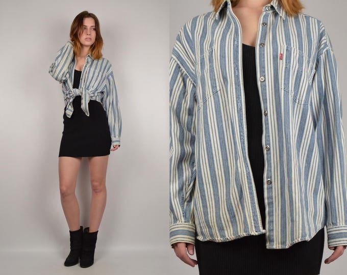 Vintage Levi's Striped Denim Shirt