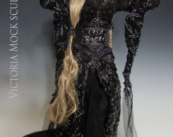 "OOAK ""ONYX"", a One of a Kind Art Doll sculpture by Victoria Mock"