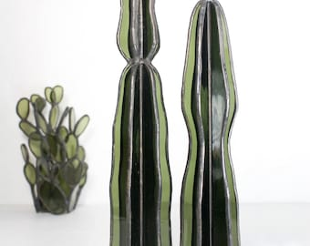 Stained Glass Cacti Sculptures // Stained Glass Cactus