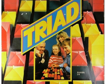 Triad Rare Vintage 1980s Retro Strategy Family Board Game from Paradigm Games