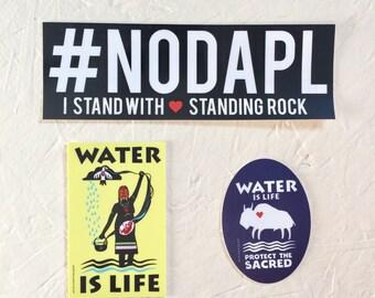 NODAPL Support Standing Rock 3 weatherproof stickers