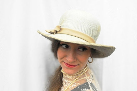 1950s Gone with the Wind Sage Green Southern Belle Kentucky Derby Sunhat Western Wedding Bridal Frank Olive Emme Boutique Millinery Hat Box