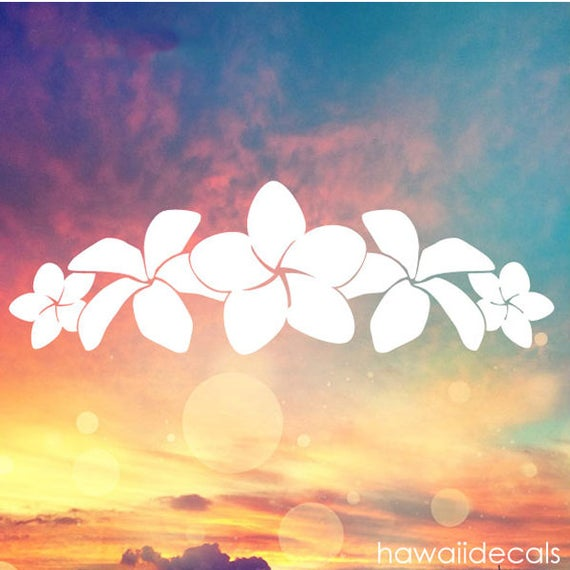 Plumeria Band Vinyl Decal Sticker Hawaii Plumeria Stickers - Custom vinyl decals hawaii