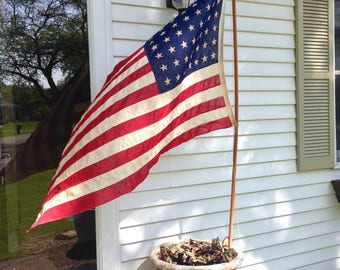 Vintage Flag-Old Glory-Faded American Flag-Star and Stipes