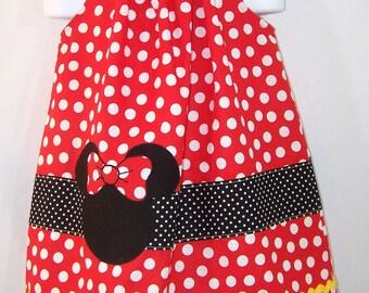 Girls Pillowcase Dress, Minnie Dress, 2T to 3T, Ready to ship